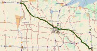 Fargo, ND to Portage, WI via pickup in West Fargo, ND